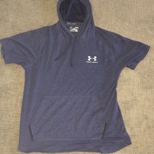 Men's Under Armor Navy shortsleeved hoodie